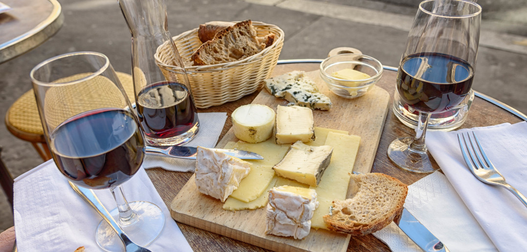 What more do you need? Sitting in a sidewalk cafe in Paris, enjoying some fabulous cheese.